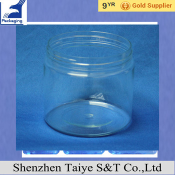 Plastic Containers wide mouth bottle jars