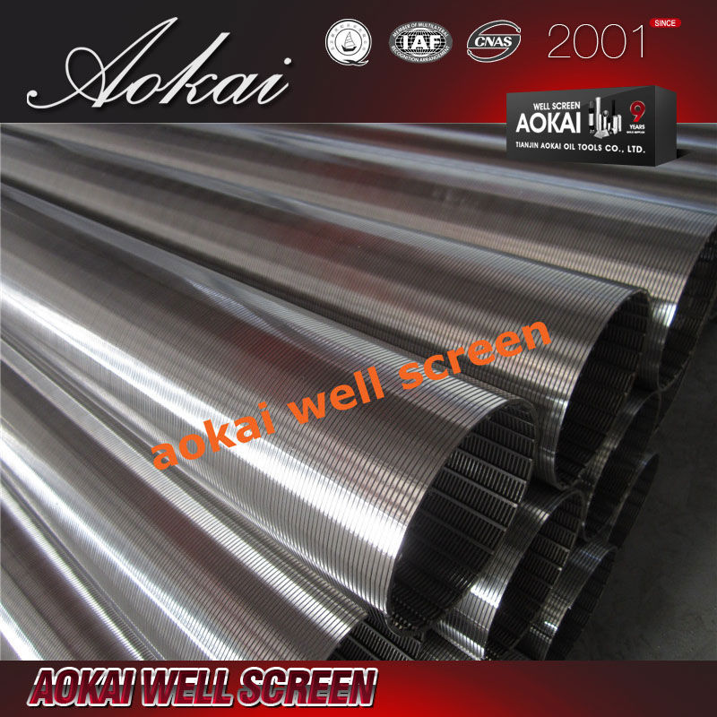 AOKAI high quality SS wedge wire Johnson water well screen for water well drilling and farm irrigation