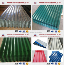 Mill Price Glazed type PPGI corrugated metal roofing sheet or Corrugated roof tile