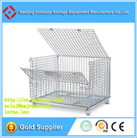 Q235 Cold Rolled Steel Medium Duty Storage Cages With Wheels