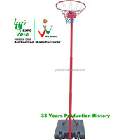 Portable Basketball Stand plastic base steel pipe