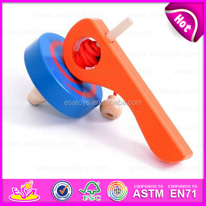 Hot sale item interesting wooden small gyro/top/spinning top/peg-top toys for kids W01B017