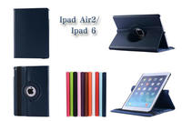 360 Degree Rotation Stand Leather Case For iPad Air 2 iPad 6 Stand Case