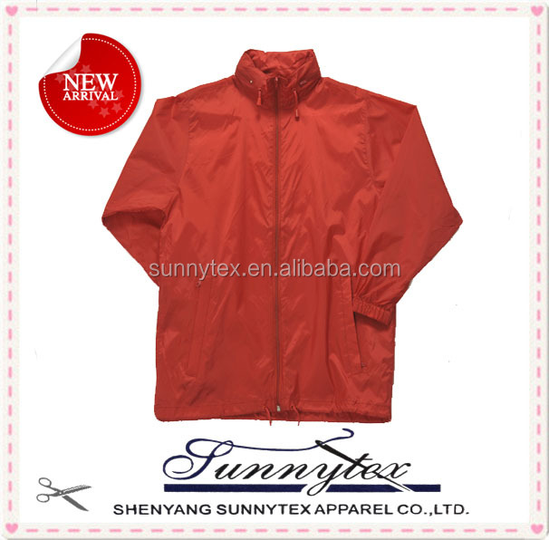 OEM eco friendly thin waterproof foldable adult bike rain jacket