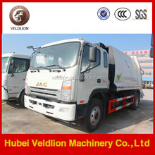 JAC 4 ton compactor garbage truck,China small garbage compactor truck hot sale in Africa