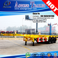 20ft 40feet shipping container skeleton truck trailer chassis used car dealers philippines