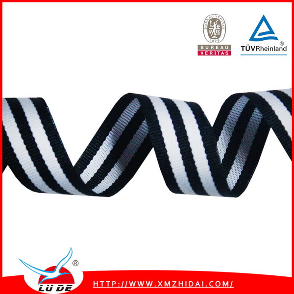 Wholesale ribbon black white stripes for gift packing