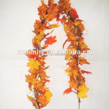 Silk Maple Leaves garland Artifical decorative vine/garland