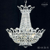 Fancy 2 light small hotel K9 crystal chandelier bobeche in chrome color ETL80002A