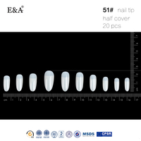 EA brand free false nails half cover artificial nail tip wholesale press on nails