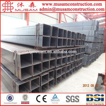 Structural perforated square steel pipe / Slotted structural steel tube