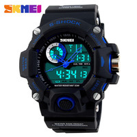 2015 new casual men military outdoor sport 5atm waterproof electronics digital japan quartz dual movt skmei 1053 military watch