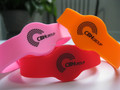 13.56MHz RFID Disposable Silicone Wristband for Theme Park