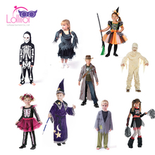 Good quality custom made halloween outfits costumes for girls kids children cosplay 2018,kids cosplay costumes for halloween boy