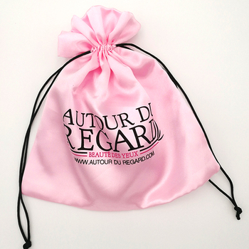 Custom hair had extension packaging satin bag