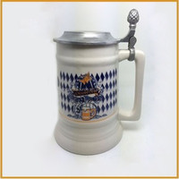 Factory handmade cheap beer steins beer mugs with lid