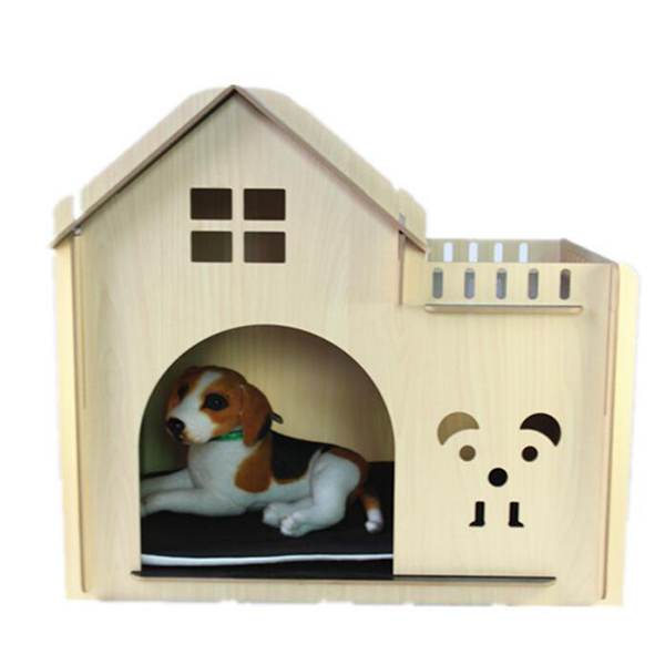 MDF Collapsible Wooden Dog House