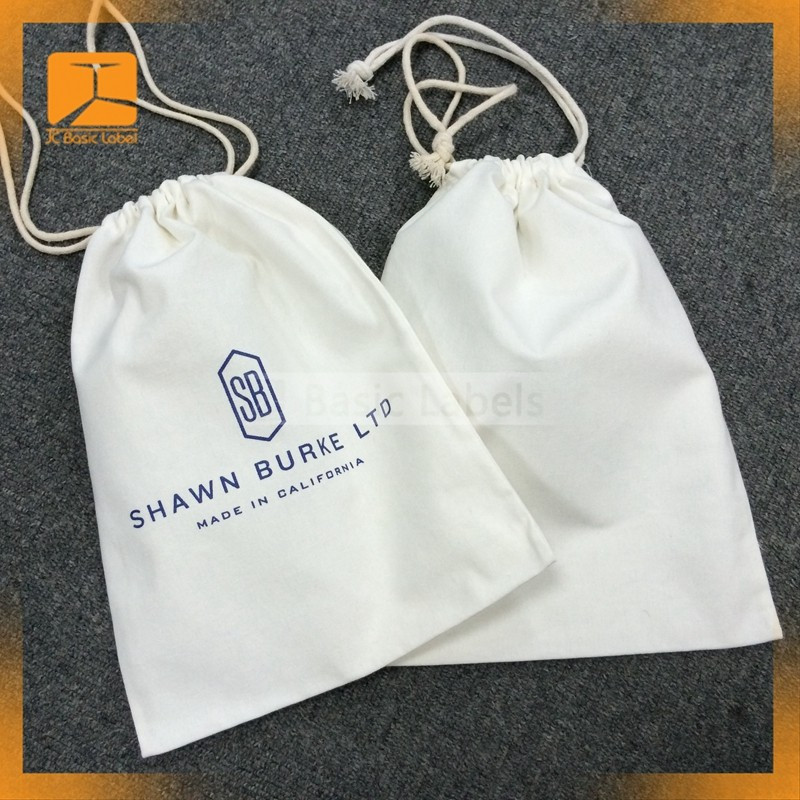 Drawstring Cotton Dust Bag Cover for women bag