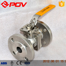 Fire protection 2 way flange ball valve stainless steel