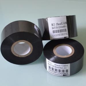 HC3 Black 30mm width code printing foil ribbon for coding machine
