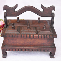 chinese antique wooden condiment box
