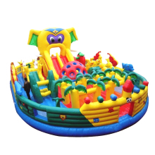 Hot sale giant interesting elephant inflatable bouncer jumping castle combo