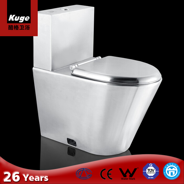 Stainless steel wc european standard bathroom toilet bowl with cistern