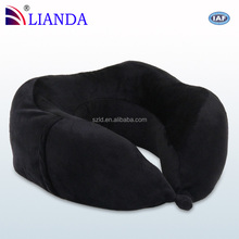 Airplane Seat Back Fit In Travel Pillow, Well Knitted Velour Fabric Neck Sore Relief Travel Pillow Memory Foam
