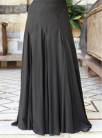 OEM service China factory custom made Wholesale muslim abaya knit solid skirt