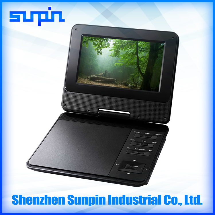 Shenzhen Sunpin new design portable dvd player for kids