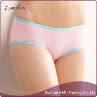 Womens basic cotton sexy stretch underwear comfortable short panties