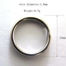 Nickel Plated Steel Round Split Circular Keychain Ring for Car Home Keys
