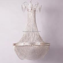Italy Design Modern Creative Aluminum Chain Tassel Chandelier For Hotel Decoration Lighting