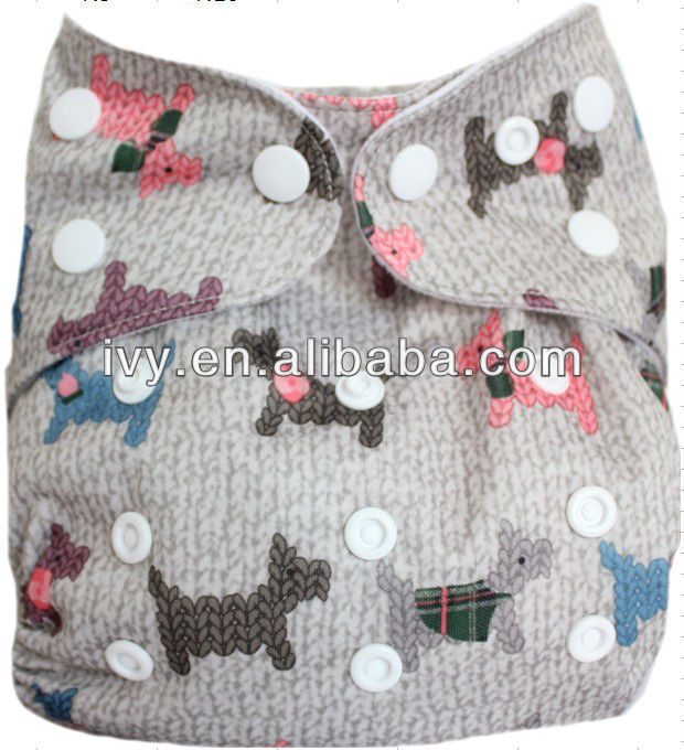 2016 new popular printed pul factory made baby cloth diaper