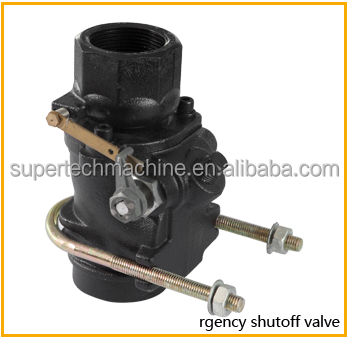 Gas emergency shut off valve for fuel filling station