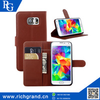 New leather wallet flip case stand cover pouch for Samsung galaxy S6