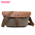 Custom youth boy leather shoulder bag canvas genuine leather stylish messenger bags for men