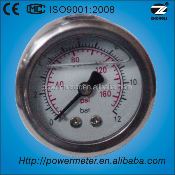 (YTN-40Z) 40mm water level gauge dual scale psi bar pressure manometer oil