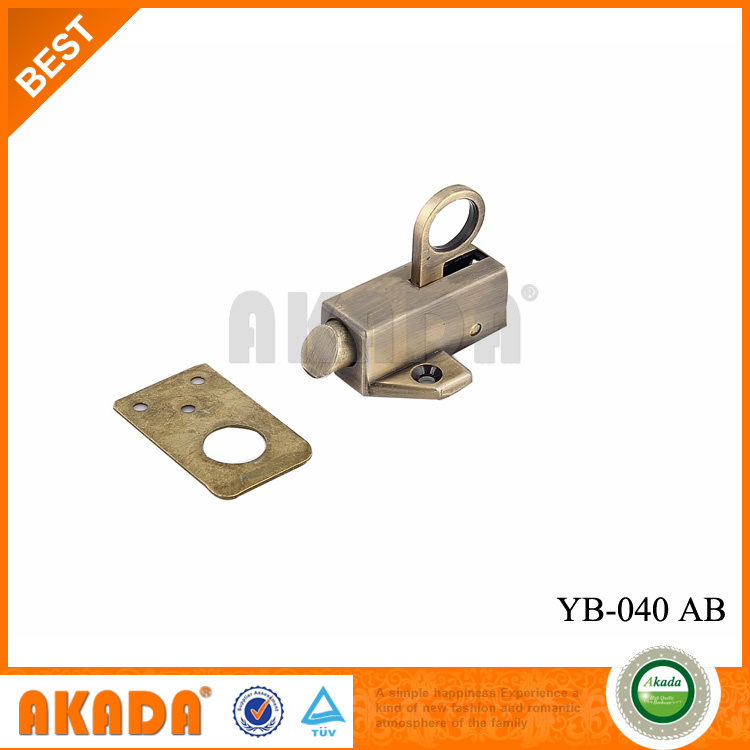 Decorative zinc alloy spring latch door bolt