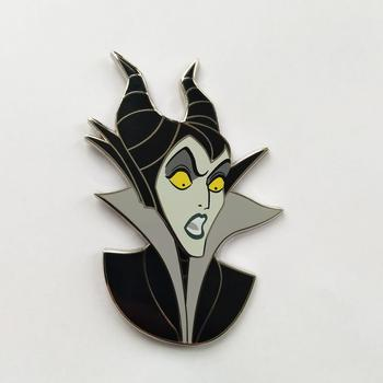 witch and servant  girl shape  custom pin badge/High quality fashion metal label/metal badge and label