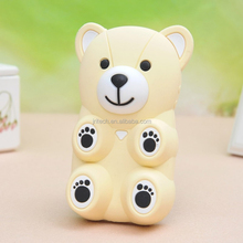 3d cartoon bear silicone back case cover for iphone 5/5S/6, 3D bear silicone case, cartoon animal bear silicone sleeve