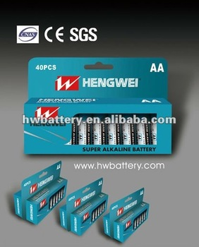 LR6 BATTERY LR6-40/PAPER BOX ALKALINE BATTERY
