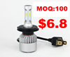 MOQ 100pcs car LED headlight conversion kit S2 CSP LED 8000lm 2 YEARS WARRANTY H4/9005/9006/H7/H8/H11