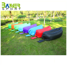 Wholesale customized inflatable lazy sofa airbed lilo sleepling bag garden beach yard outdoor