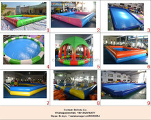 large inflatable square or round PVC swimming pool for sale