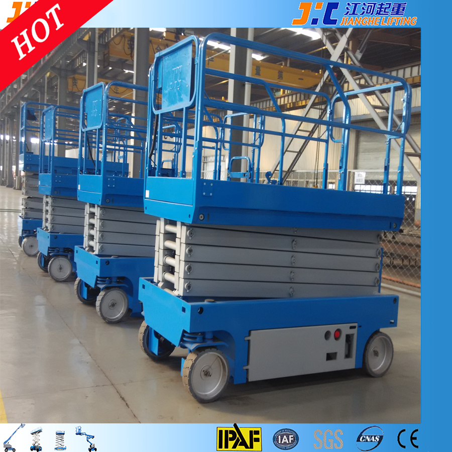 Compact Design Self Propelled Electric Mobile 10m Scissor Lift for Access Solution