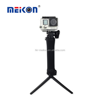 Wholesale Sport video camera Accessories Meikon 3 way Monopod Tripod selfie stick for Gopro Accessories