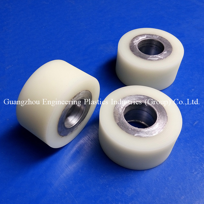 Hot sale colorful PU plastic trolley wheel For Polyurethane rollers