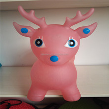 PVC inflatable jumping animal new design 1300g transparent jumping deer for children