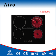 High quality new design Built-in Schott Ceran 4 Burner Induction Cooker with CE